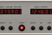 Zakázkové hodiny s GPS, detail