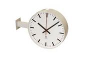 Dvoustranné hodiny FLEX s boční konzolou / stropním závěsem, pro průměr 25 - 40 cm