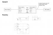 Zapojení a rozměry SP 4500