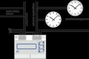 Příklad zapojení hlavních hodin HN 50, nastavení podružné linky - minutová