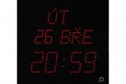 Kalendářní digitální hodiny ECO-M-DK červené