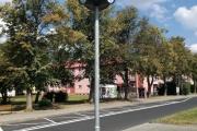 Město Ostrov, exteriérové hodiny třístranné