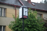Obec Modřišice, exteriérové hodiny třístranné