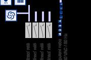 Příklad zapojení hlavních hodin ETC 14/14R, podružná linka - MOBALine / impulsní