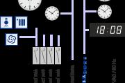 Příklad zapojení hlavních hodin ETC 24/24 R, nastavení jedné podružné linky MOBA