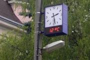 Proboštov, dvoustranné exteriérové hodiny
