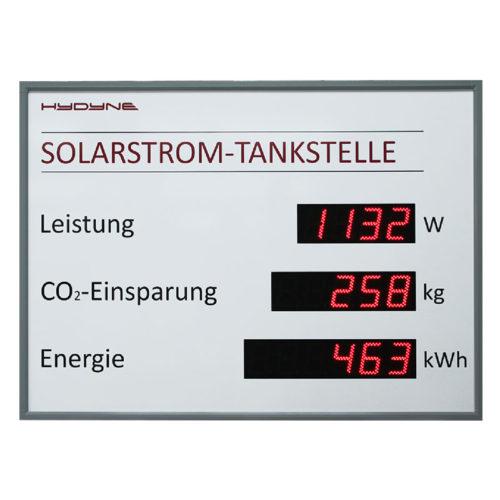 DS, zobrazení parametrů solárních panelů