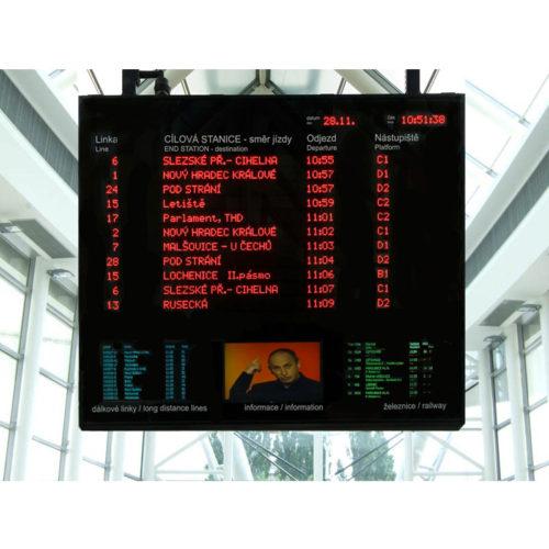 LED informační panel řady DO