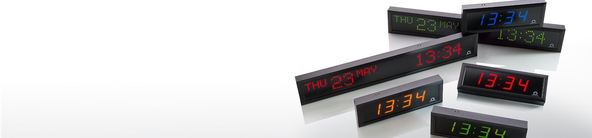 Digitální hodiny MOBATIME v různých designech